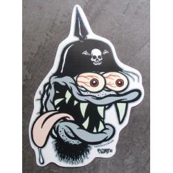 sticker monstre casque a...