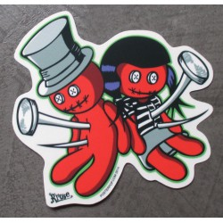 sticker couple poupée...