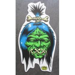 sticker shrunken head vert...