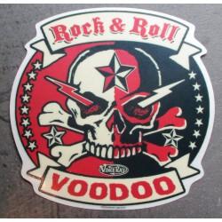 sticker rock & roll woodoo...