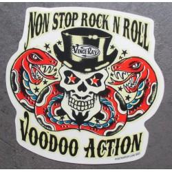 sticker non stop rock roll...