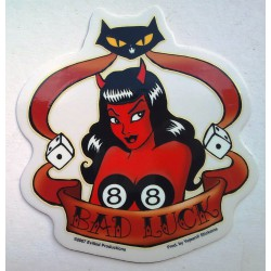 sticker diablesse bad luck...