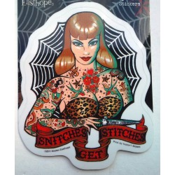 sticker pin up rousse...