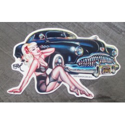 sticker pin up blonde sexy...