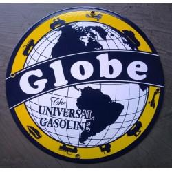 plaque emaillée globe...
