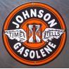 plaque emaillée johnson gasolene deco garage station service