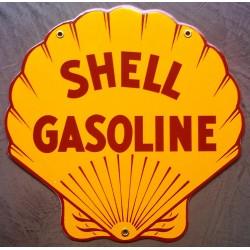 plaque emaillée shell...