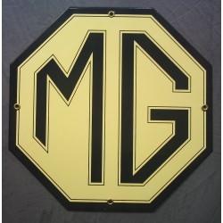 plaque emaillée MG voiture...