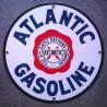 plaque emaillée atlantic gasoline deco garage tole email usa