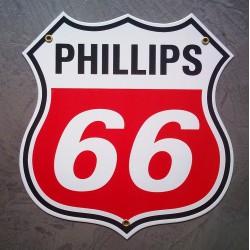 plaque emaillée phillips 66...