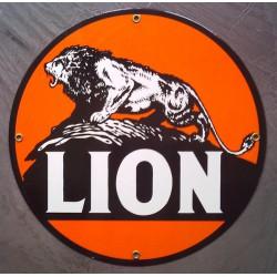 plaque emaillée lion...