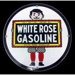 plaque emaillée white rose...