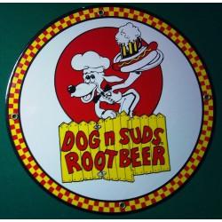 plaque emaillée dog root...