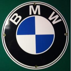 plaque emaillée BMW logo...