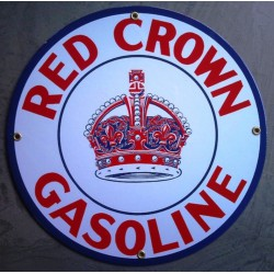 plaque emaillée red crown...