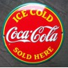 mini plaque emaillée coca cola ice cold sold here email usa