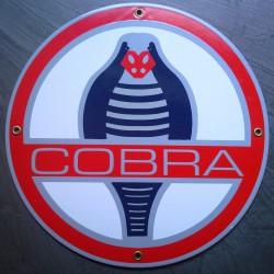 plaque emaillée cobra ronde...