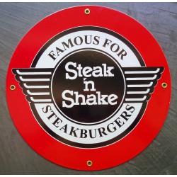plaque emaillée steak &...