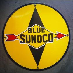 plaque emaillée blue sunoco...