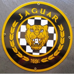 plaque emaillée jaguar...