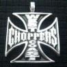 pendentif inox west coast choppers croix malte noir