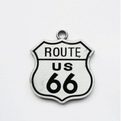 pendentif route 66 logo...