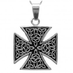 pendentif inox grosse croix...