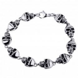 bracelet petit crane inox...