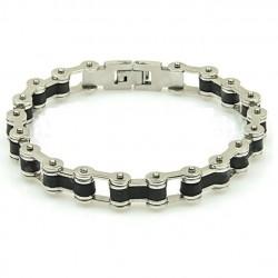 bracelet chaine moto double...