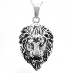 pendentif inox tete de lion...