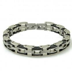 bracelet metal inox triple...