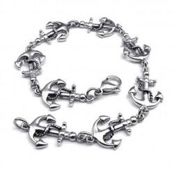 bracelet ancre marine inox...