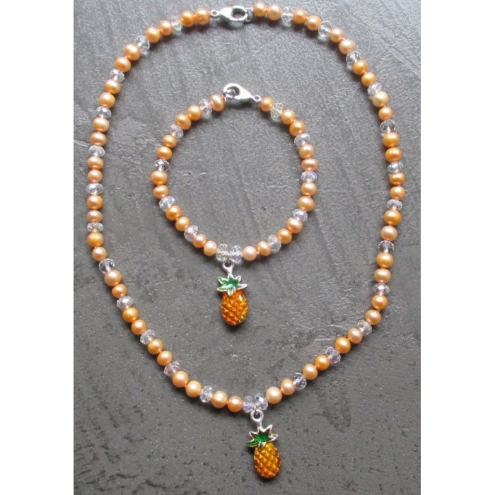 Ideal Collier Rockabilly Ananas Up Femme Pin Et Bracelet rWBoxdCe