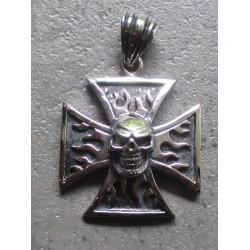 pendentif inox croix malte...