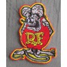 patch rat fink gris 8cm ecusson thermocollant hot rod kustom