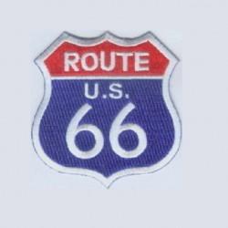 patch route 66 bleu blason...