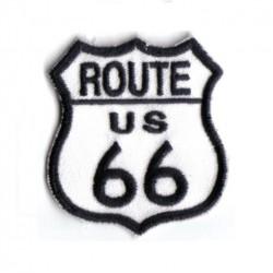 patch route 66 blanc blason...