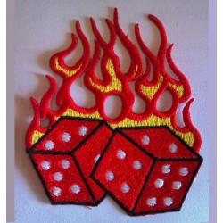 patch dé a flammes rouge...