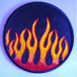 patch rond a flammes...