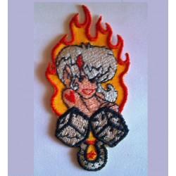 patch pin up manga flammes...