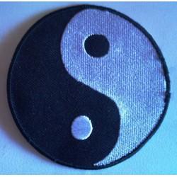 patch yin yang rond noir...