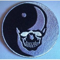 patch crane noir blanc ying...