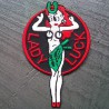 patch lady luck chance pin up hot rod kustom ecusson
