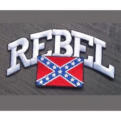 patch rebel ecrit en  blanc...
