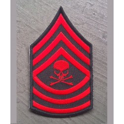 patch épaulette crane rouge...