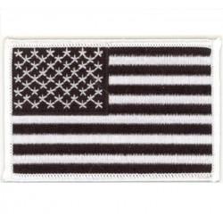 patch drapeau USA noir...
