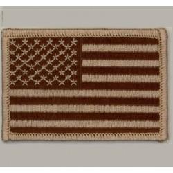 patch drapeau USA marron...