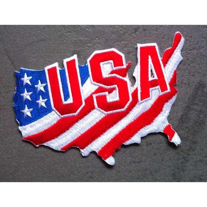 Patch écusson Aufbügler l/'Amérique cowboy motard veste US Love USA DRAPEAU drapeau