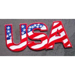 patch lettre USA en drapeau...