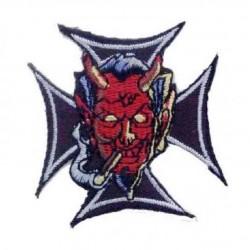 patch diable sur croix de...